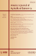 American Journal of Agricultural Economics journal cover