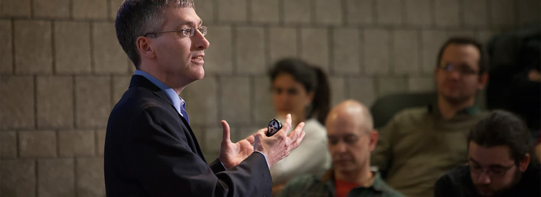 Ted O'Donoghue giving a presentation