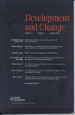 Development and Change journal cover