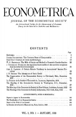 Econometrica Cover of Journal