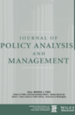 Journal of Policy Analysis and Management cover