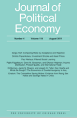 Journal of Political Economy Cover