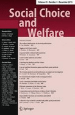 Social Choice and Welfare journal cover