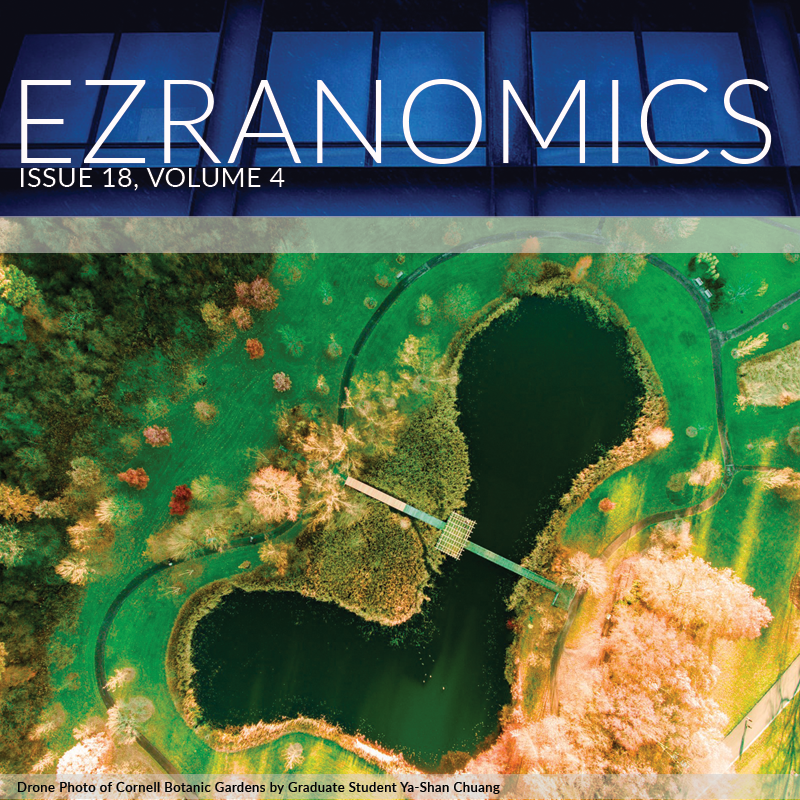 Cover of Ezranomics newsletter picturing the Botanical Gardens