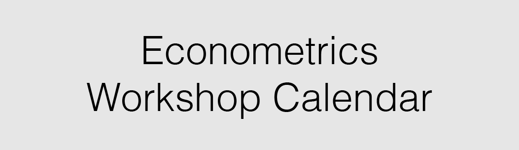 Link to CU Event Calendar View of All Econometrics Workshops