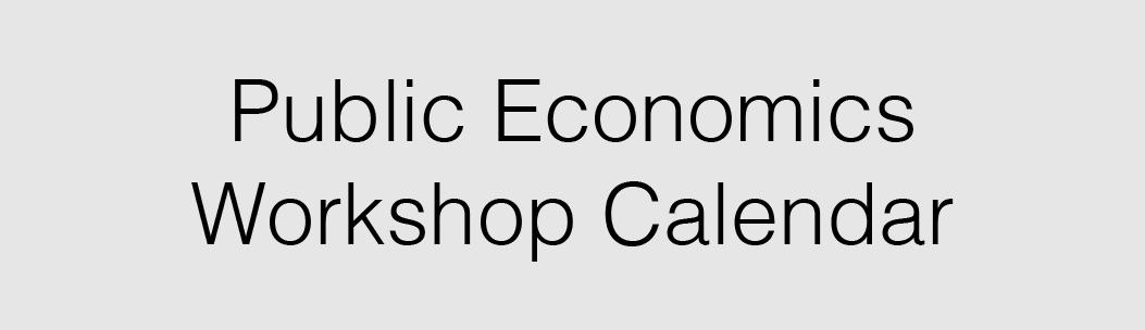Link to CU Event Calendar View of All Public Economics Workshops