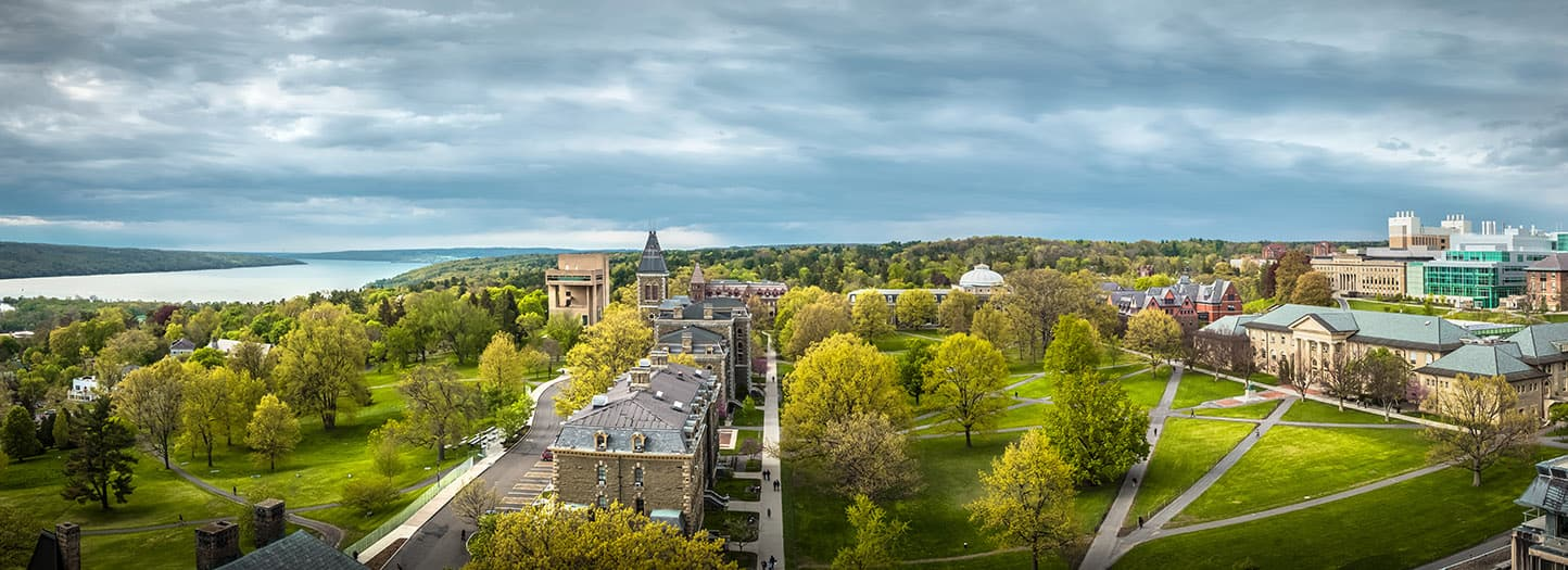 Cornell University campus in spring